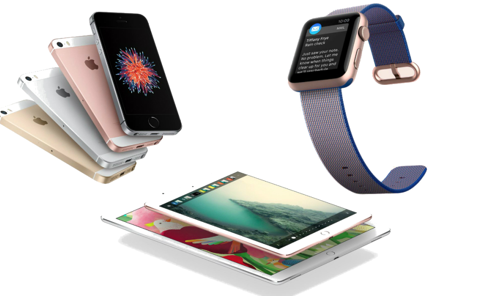 iPhone SE, iPad, prix de la Watch, Apple passe tout au compacteur