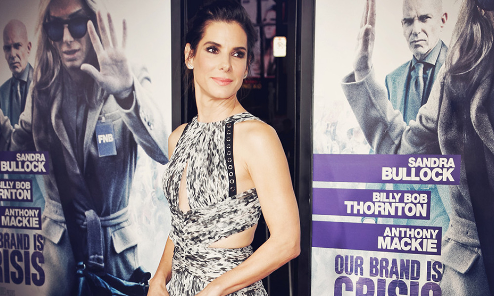Actress Sandra Bullock attends the premiere of Warner Bros. Pictures' 'Our Brand Is Crisis' at TCL Chinese Theatre on October 26, 2015 in Hollywood, California.