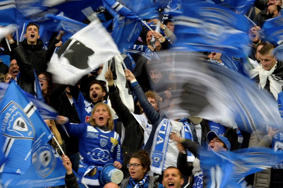 Supporters du Sporting Club de Bastia.