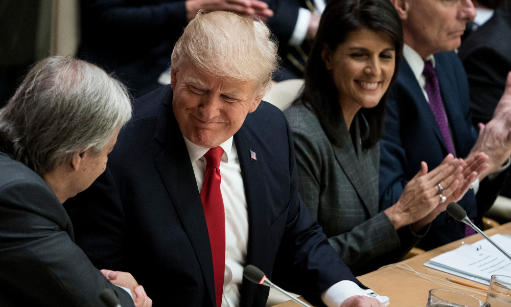 Donald Trump au siège de l'ONU, à New York, le 18 septembre.
