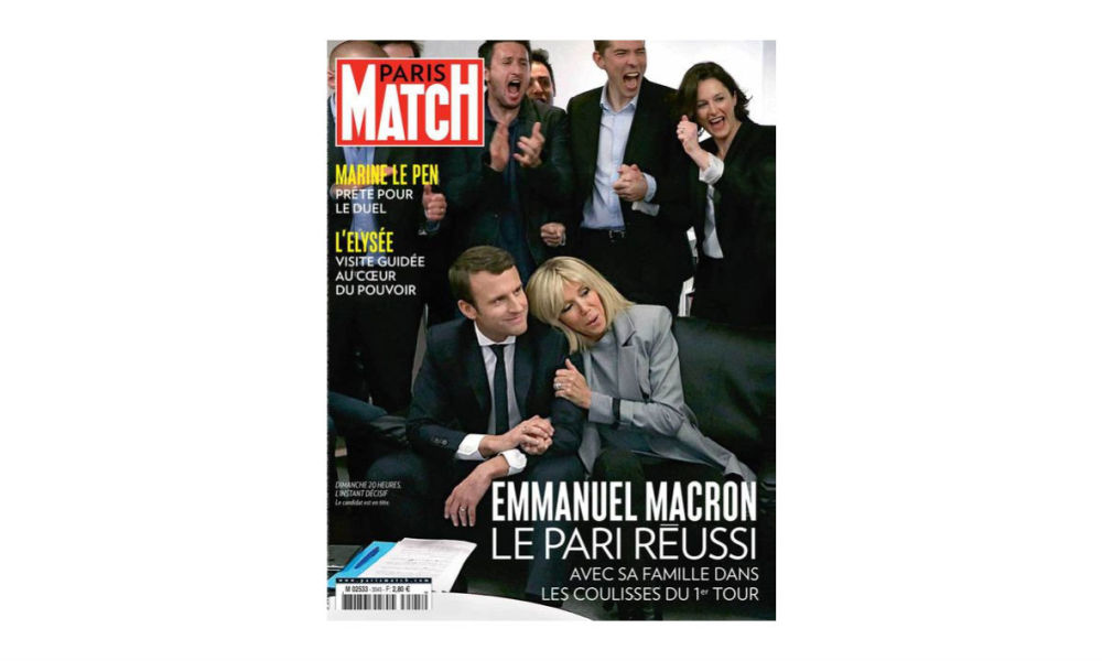 cinqui me couverture de paris match pour emmanuel macron. Black Bedroom Furniture Sets. Home Design Ideas