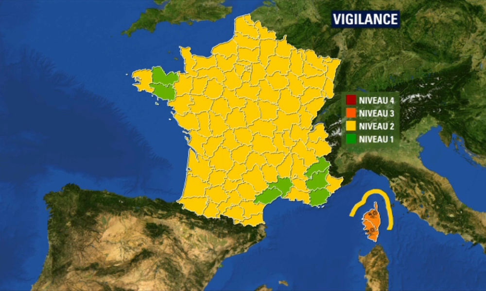 La Corse reste en vigilance orange neige et verglas