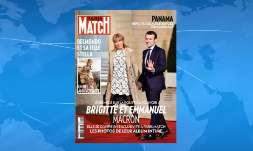 Le couple Macron en couverture de Paris Match, le 14 avril 2016.