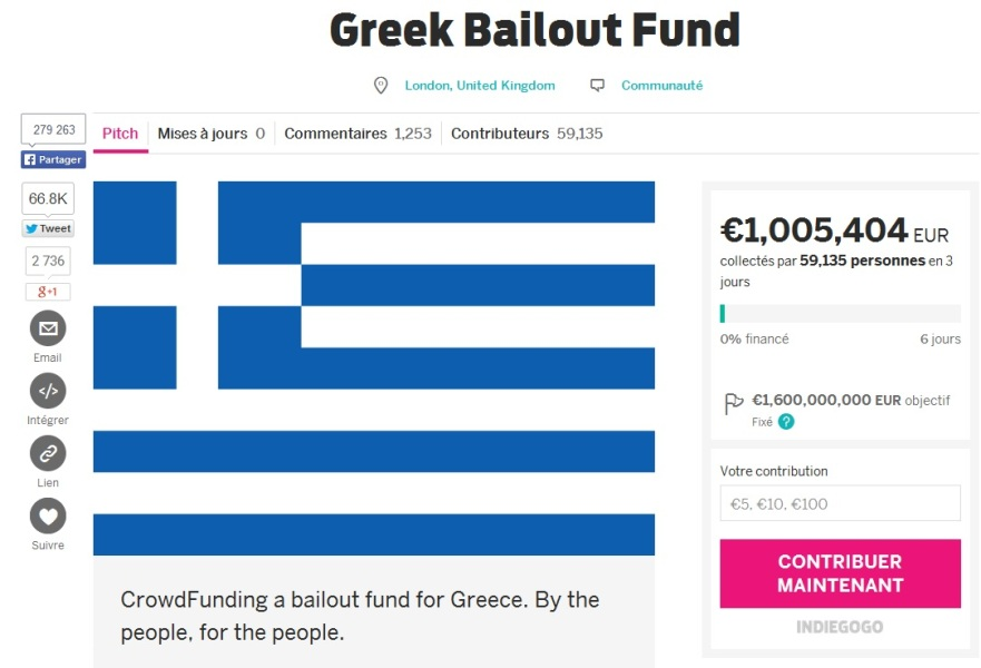 Grèce crowdfunding Royaume-Uni Allemagne FMI