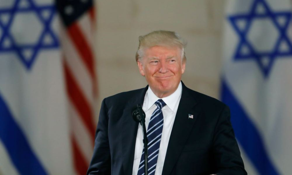 This file photo taken on May 23, 2017 shows  US President Donald Trump speaking during a visit to the Israel Museum in Jerusalem Trump will recognize Jerusalem as Israel's capital on December 6, 2017, upending decades of careful US policy and ignoring dire warnings from allies across the Middle East and the world.