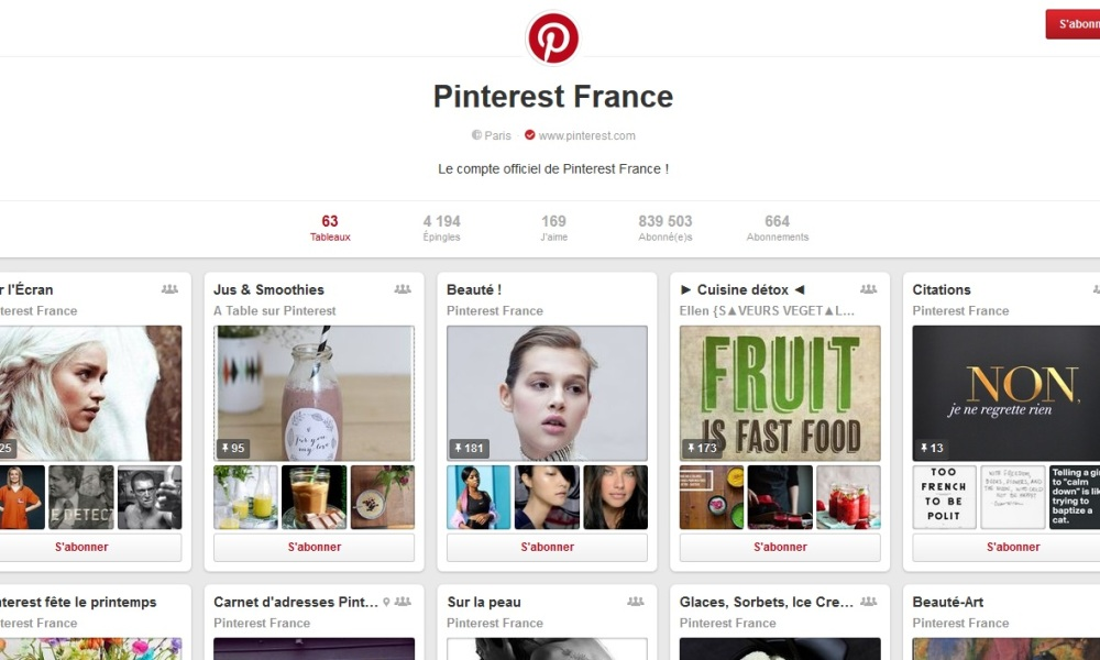 Pinterest application e-commerce