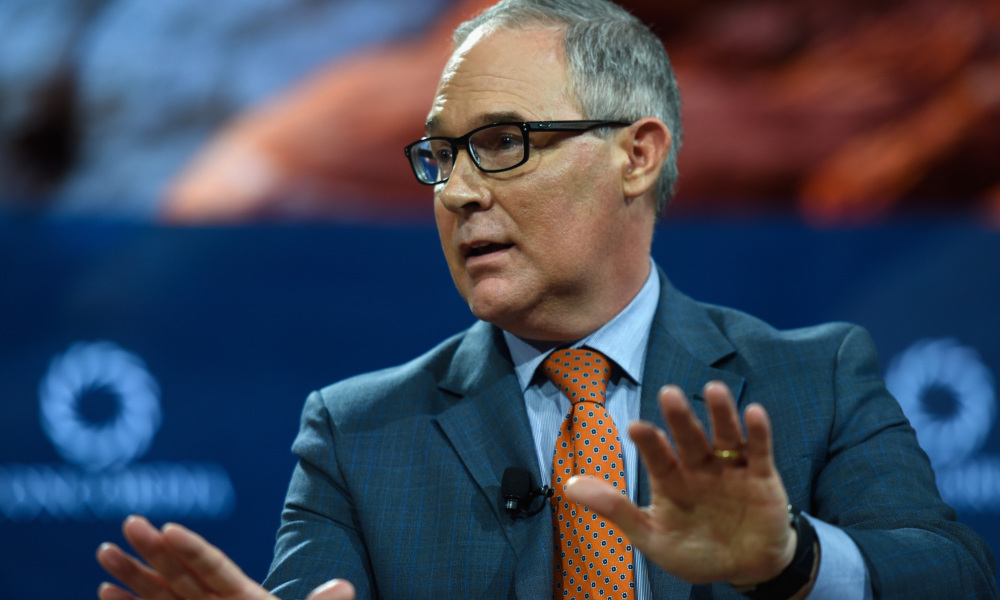 Scott Pruitt, en septembre 2017. - Riccardo Savi - Getty - AFP