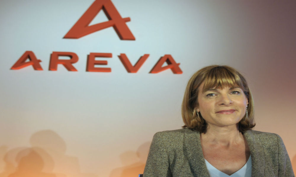 This file photo taken on March 3, 2011 shows then Areva Chief Executive Anne Lauvergeon posing prior a press conference in Paris.