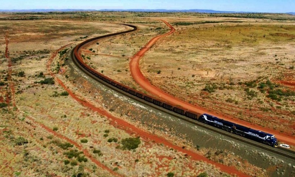 Un train de BHP en Australie, image d'illustration.