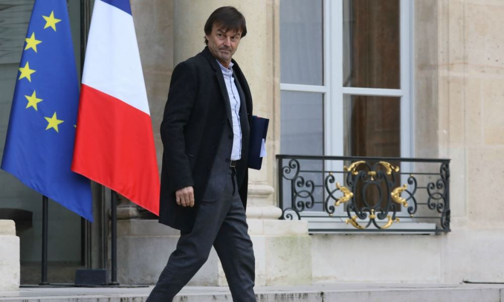 French Minister for the Ecological and Inclusive Transition Nicolas Hulot leaves the Elysee palace, following the weekly cabinet meeting on January 17, 2018, in Paris.  LUDOVIC MARIN / AFP