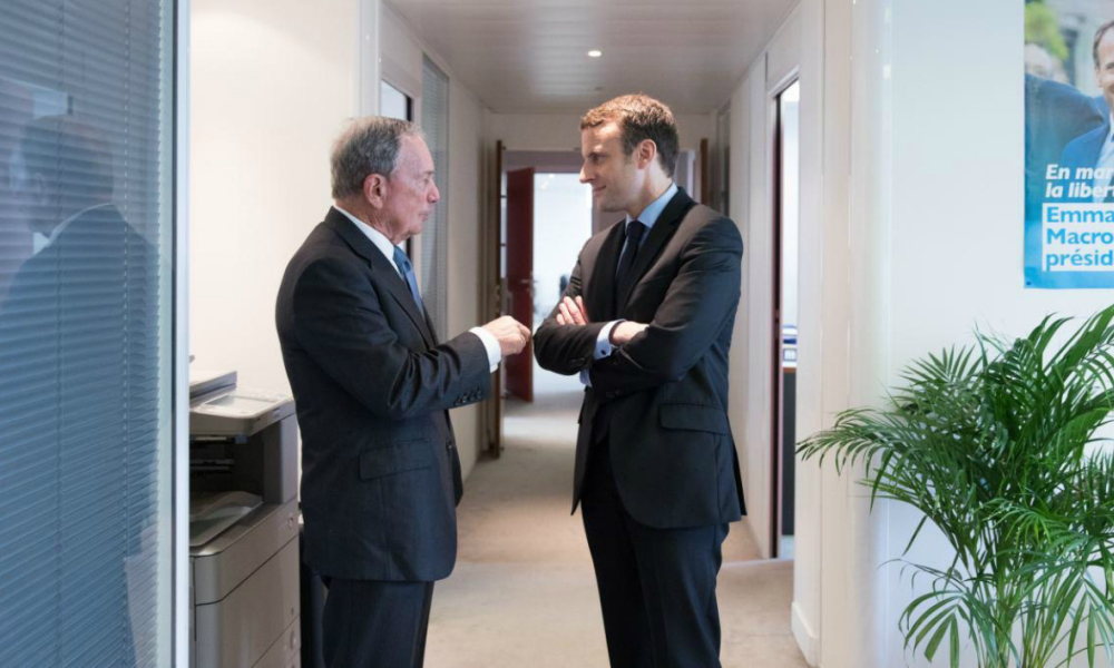 L'ex-maire de New York Michael Bloomberg se dit fan de Macron