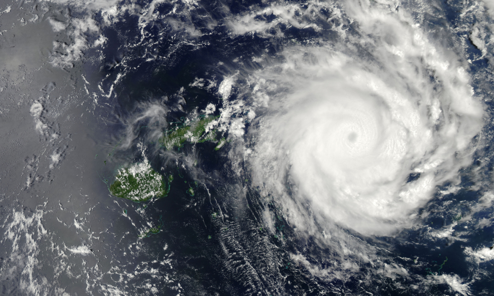 Le cyclone tropical Ian près des îles Fidji, le 10 janvier 2014. (Photo d'illustration)