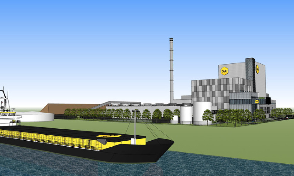 La centrale biomasse de BEE exploitée par Véolia sera implantée sur le port international de Gand (Belgique).