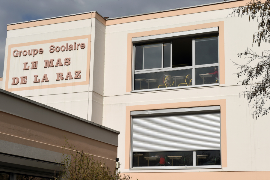 """This picture shows a general view of the """"Le Mas de la Raz"""" school in Villefontaine on March 24, 2015, the director of which has been arrested on suspicion of sexually assaulting students."""