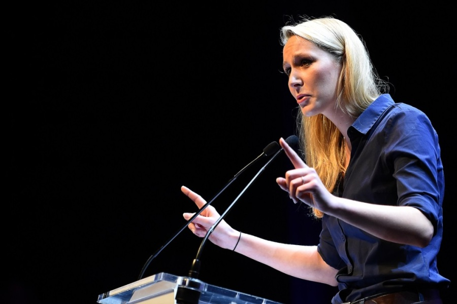 Marion Maréchal-Le Pen en meeting.