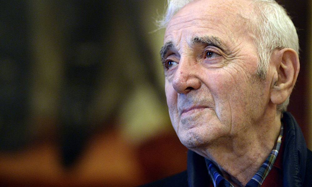French and Armenian singer Charles Aznavour looks on during a ceremony in his honour at the Senate in Brussels, on Novenber 16, 2015.