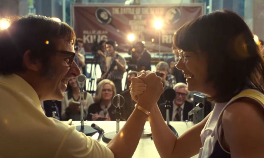 Steve Carell et Emma Stone à l'affiche de Battle of the Sexes, en salles le 22 novembre 2017
