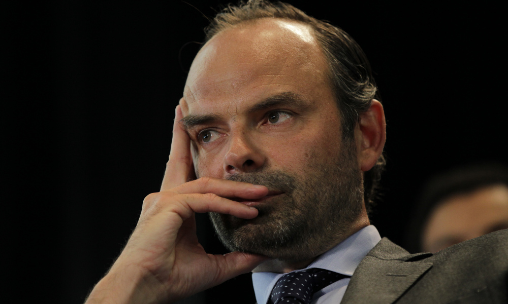 Mayor of Le Havre Edouard Philippe is pictured during a meeting on May 26, 2015 in Le Havre, northwestern France. AFP PHOTO / CHARLY TRIBALLEAU  CHARLY TRIBALLEAU / AFP
