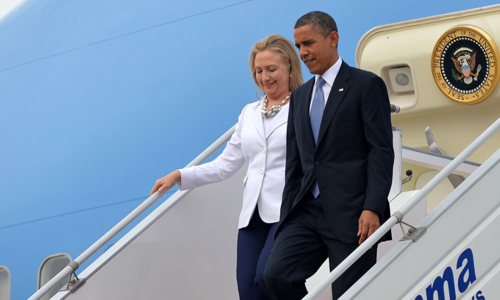 Hillary Clinton et Barack Obama en voyage officiel