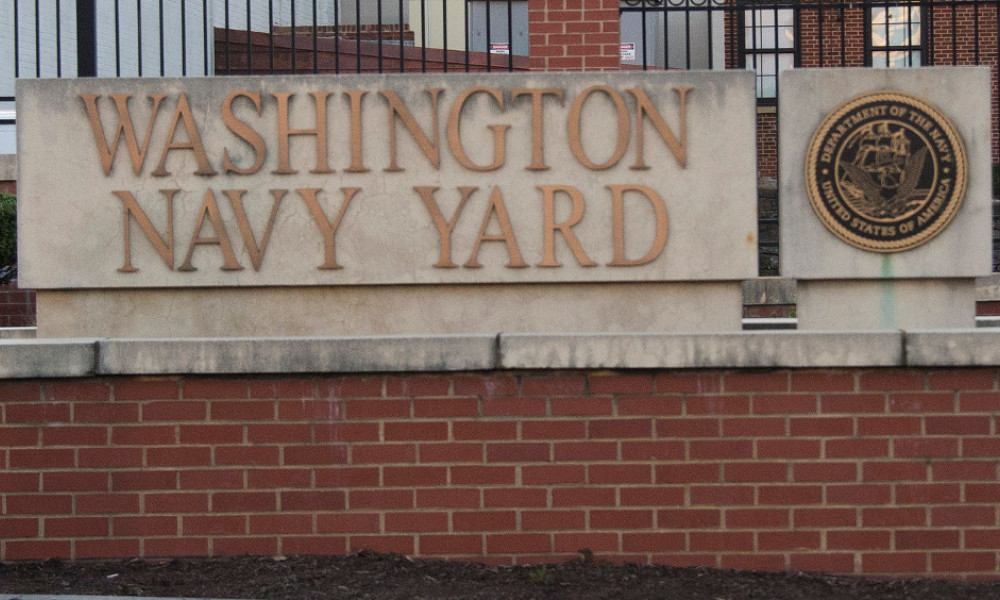 L'entrée du Washington Navy Yard, centre administratif de l'U.S. Navy.
