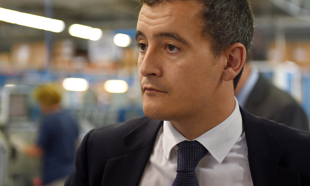 "Campaign director for former French president and candidate for the right-wing ""Les Republicains"" (LR) party primary ahead of the 2017 presidential election Nicolas Sarkozy (not pictured), Gerald Darmanin looks on in Vendome on September 8, 2016. French ex-president Nicolas Sarkozy said September 6 he was a victim of ""manipulation"" and vowed nothing would stop him running for re-election after prosecutors recommended he stand trial over alleged illegal"