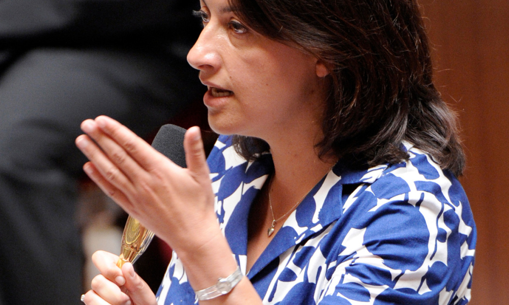 French Minister for Equality of Territories and Housing, Cecile Duflot adresses to MPs during the weekly session of questions to the government at the National Assembly on July 17, 2012 in Paris. AFP PHOTO BERTRAND GUAY BERTRAND GUAY / AFP