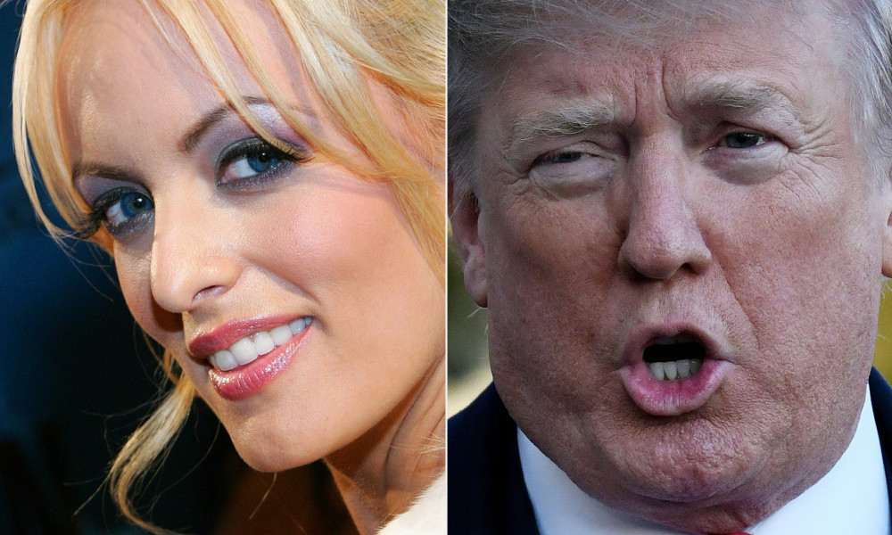 Stephanie Clifford et Donald Trump - Ethan Miller, Olivier Douliery - AFP - Getty