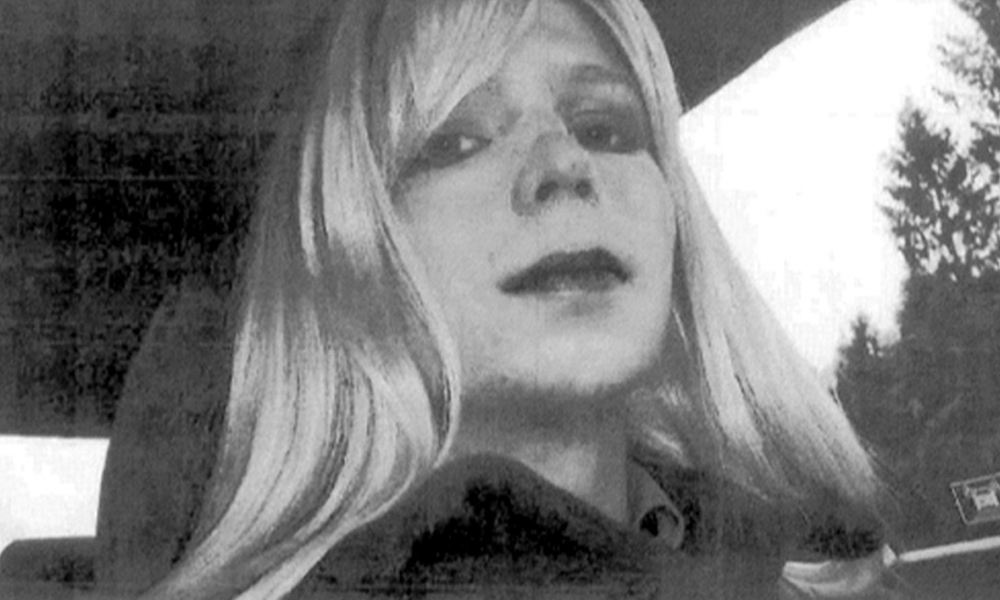 "Chelsea Manning. This undated photo courtesy of the US Army shows a photo of Bradley Manning in wig and make-up. Bradley Manning, the US soldier sentenced to 35 years for leaking secret documents, said August 22, 2013 he now considers himself to be a woman called Chelsea."" As I transition into this next phase of my life, I want everyone to know the real me,"" the 25-year-old said in a statement read out on NBC's TODAY show in the presence of his lawyer, David Coombs. ""I am Chelsea Manning, I am a female.""""Given the way I feel and have felt since childhood, I want to begin hormone therapy as soon as possible,"" the statement said. ""I also request that starting today you refer to me by my new name and use the feminine pronoun.""On August 21, 2013, a military court sentenced Manning to 35 years in jail for handing secret government documents to WikiLeaks, resulting in America's biggest-ever security breach. AFP PHOTO / US ARMY == RESTRICTED TO EDITORIAL USE / MANDATORY CREDIT: ""AFP PHOTO / US ARMY / NO MARKETING / NO ADVERTISING CAMPAIGNS / DISTRIBUTED AS A SERVICE TO CLIENTS == HO / US ARMY / AFP"