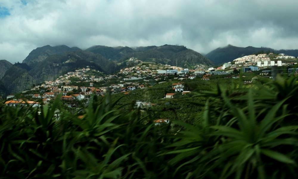 A picture taken on April 30, 2016 shows a landscape on the Madeira island. PATRICIA DE MELO MOREIRA / AFP