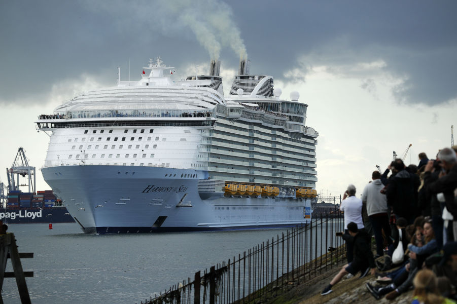 Le paquebot Harmony of the seas en escale à Southampton (photo d'illustration)