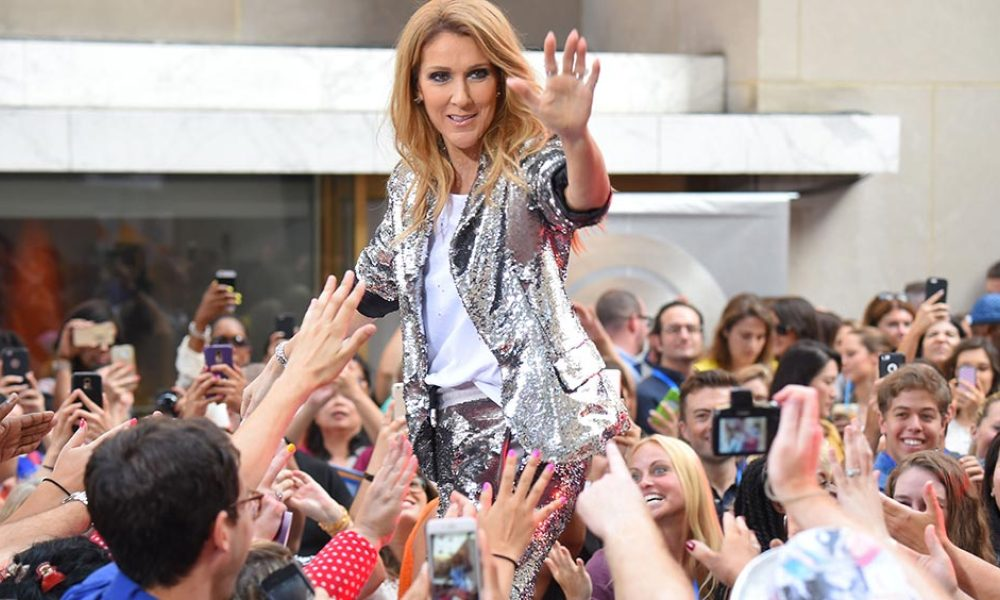Singer Celine Dion performs on NBC's 'Today' show at Rockefeller Plaza on July 22, 2016 in New York City.