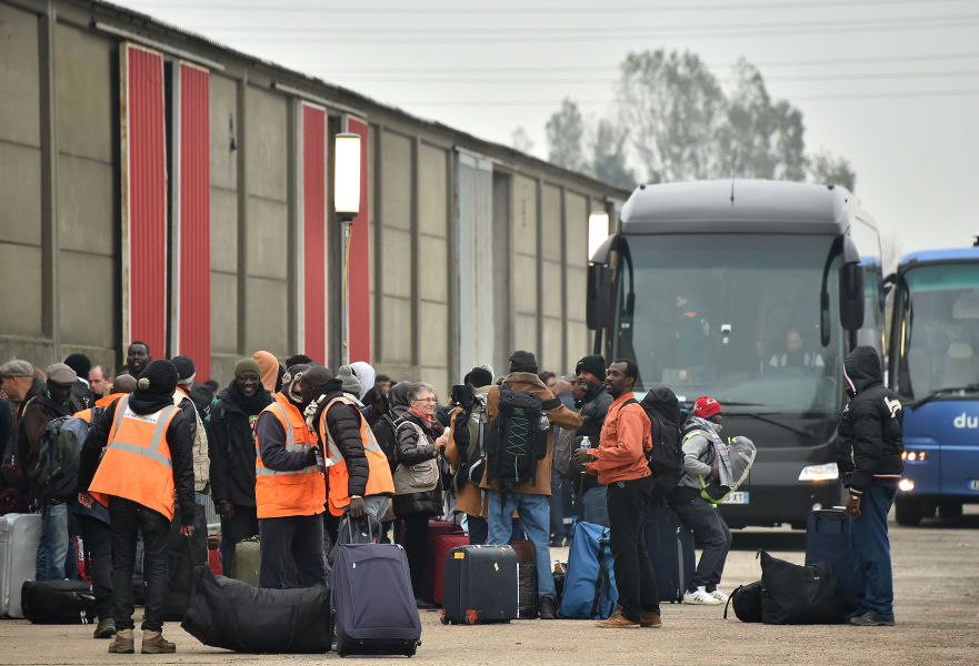 "Un dernier car de migrants a quitté l&squot;ex-""Jungle"" de Calais, ce jeudi matin. (Photo d&squot;illustration)"