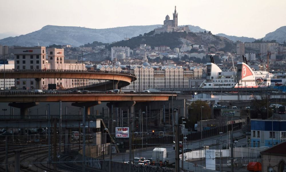 General view of the city of Marseille taken on January 10, 2018. ANNE-CHRISTINE POUJOULAT / AFP