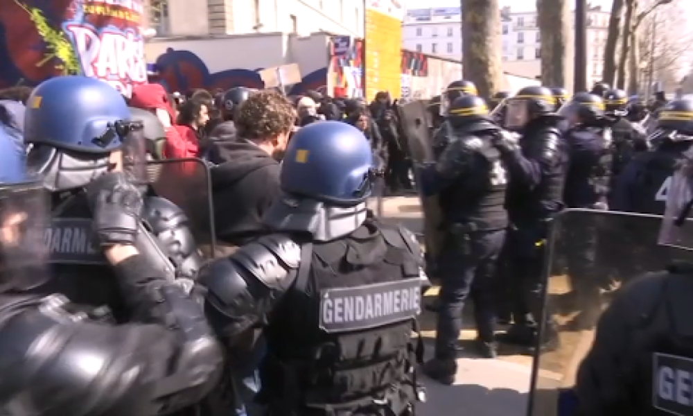 Arrestations de lycéens par les forces de l'ordre, le 6 avril à Paris. (illustration)