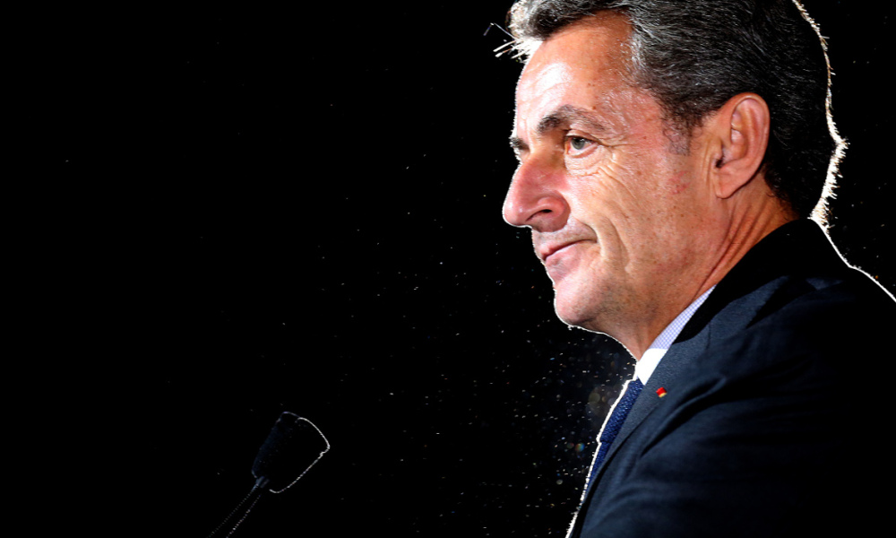Former French President and candidate for the right-wing Les Republicains (LR) party primaries ahead of the 2017 presidential election Nicolas Sarkozy delivers a speech during a campaign rally in Chaumont in the Haute-Marne region on October 14, 2016.  FRANCOIS NASCIMBENI / AFP