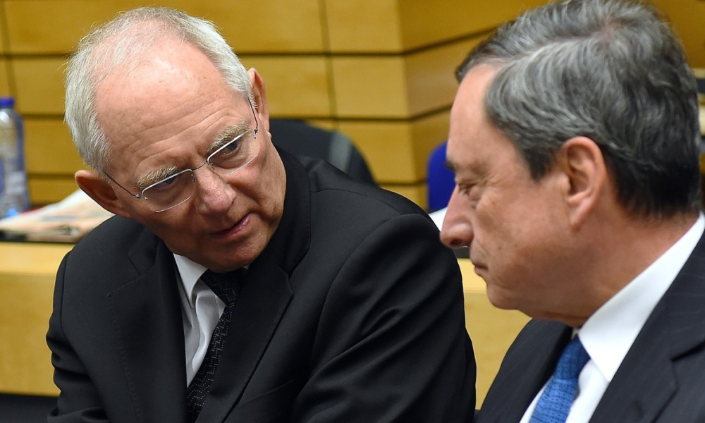 Wolfgang Schauble Mario Draghi BCE Allemagne Grèce confiance Alexis Tsipras Yanis Varoufakis