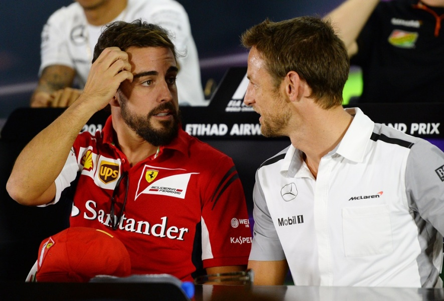 Fernando Alonso et Jenson Button