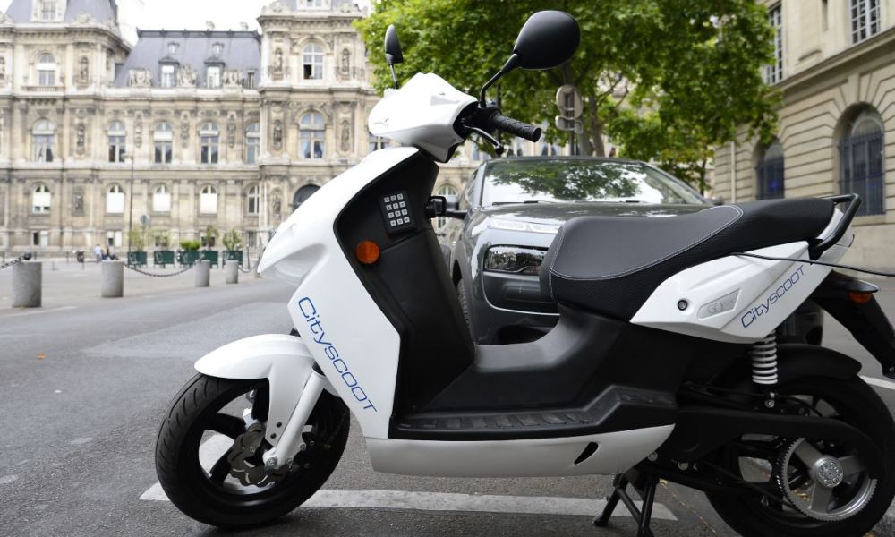 Le scooter électrique du service Cityscoot (image d'illustration)