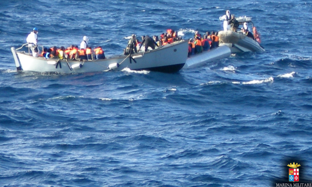 Des migrants secourus en mer (photo d'illustration)