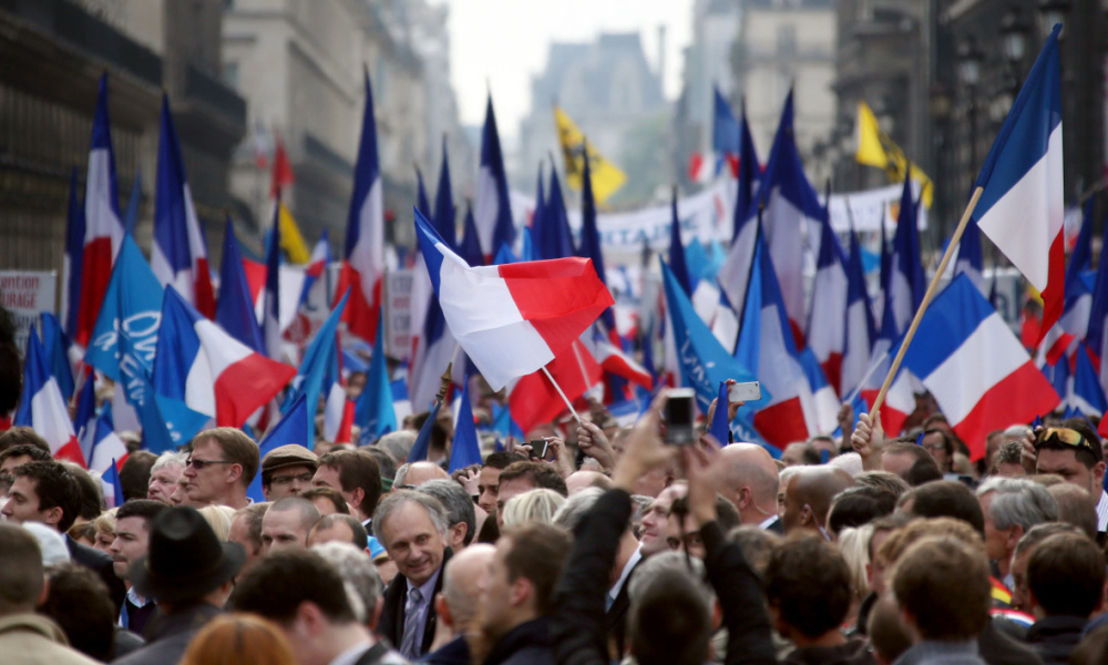 Le traditionnel défilé du 1er mai du Front national, ici en 2015.
