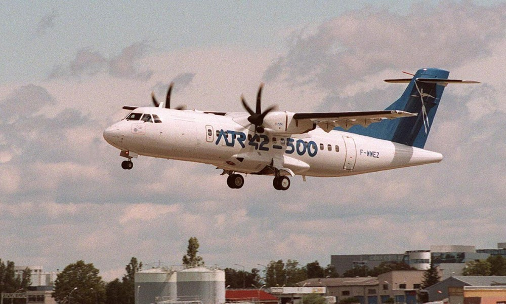 Un ATR 42 de la compagnie Tunisia Airlines atterrit à l'aéroport de Toulouse-Blagnac (photo d'illustration).