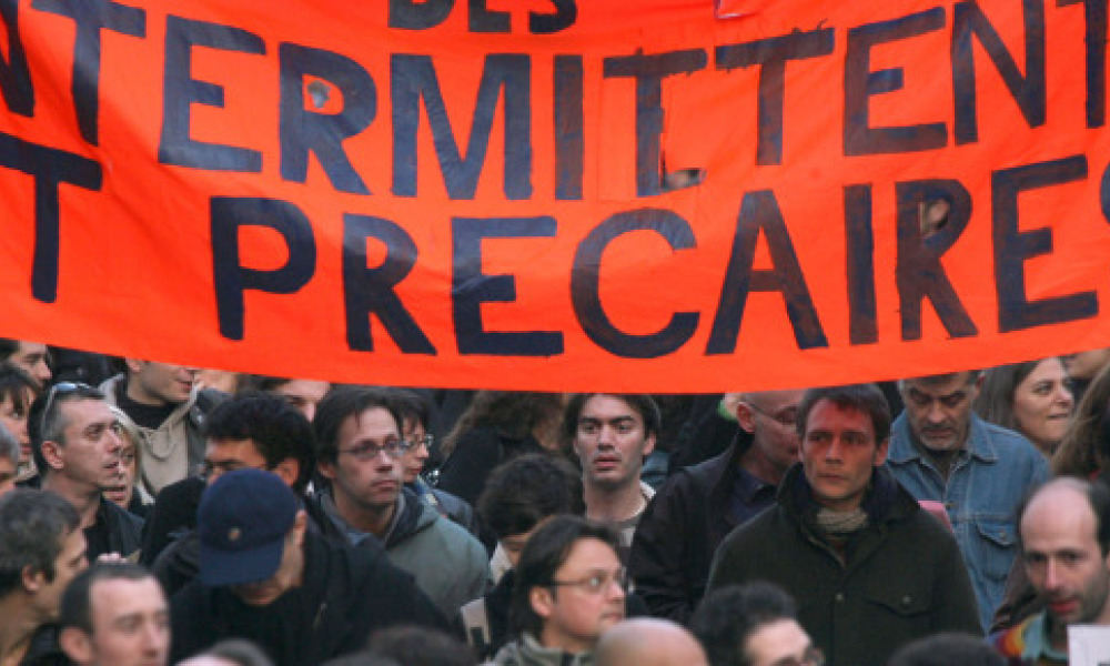 Une manifestation d'intermittents du spectacle