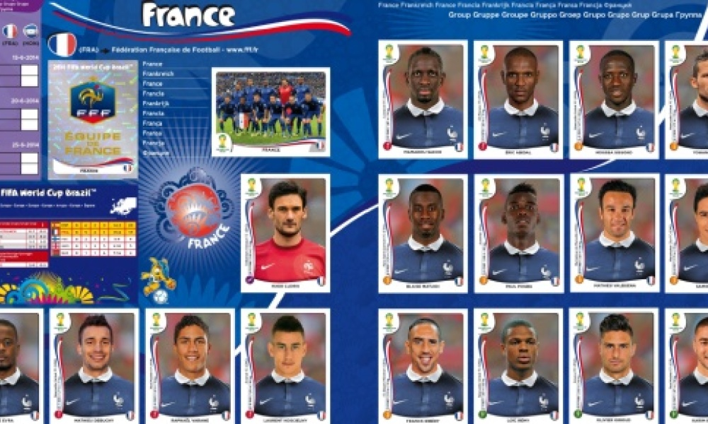 Mondial 2014 un business en or pour panini - Coupe de france 2014 foot ...