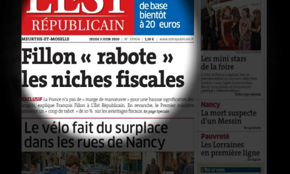 """Rabot"" sur les niches fiscales"