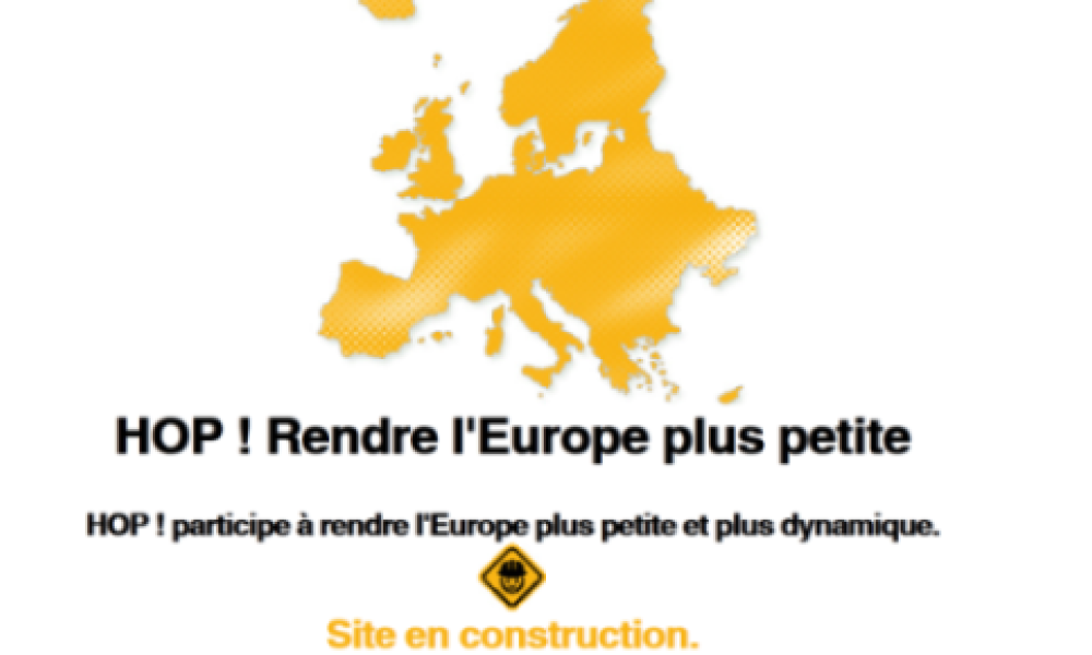 Capture d'écran du site de HOP!, en construction