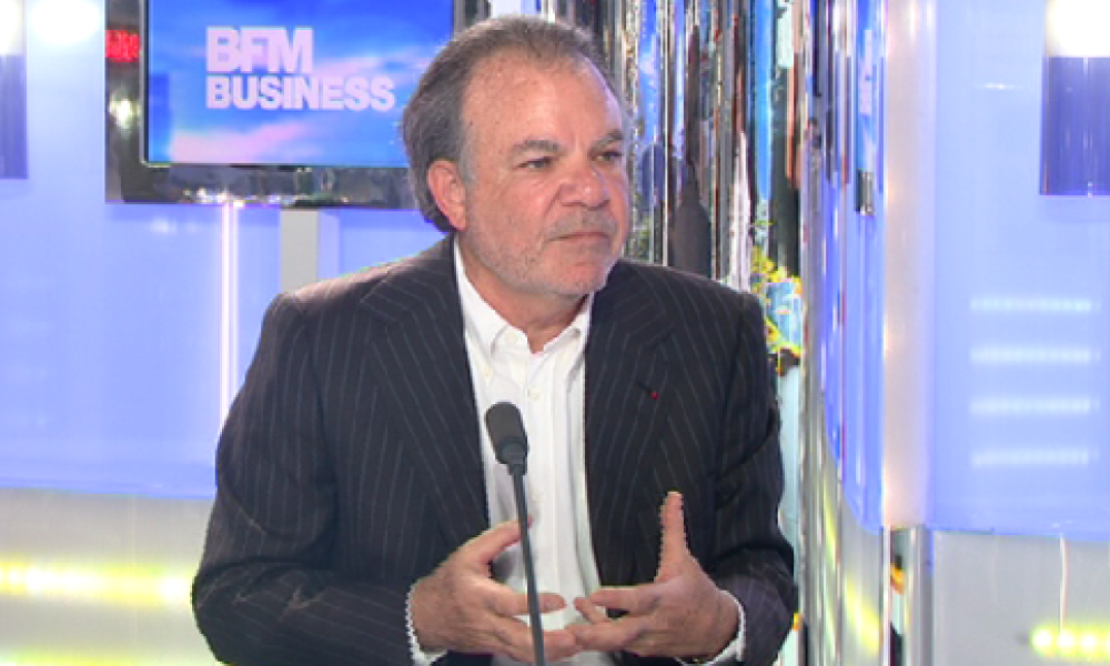 Le PDG de Nexity Alain Dini sur le plateau de Good Morning Business ce 21 mars.