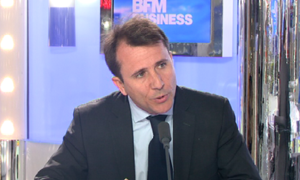 Thibault Lanxade sur le plateau de Good Morning Business le mercredi 27 mars.