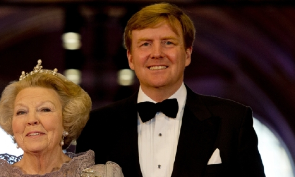 La reine Beatrix et son fils Willem-Alexander