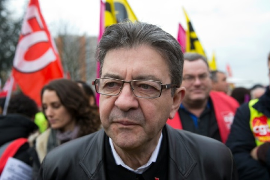 L'ancien président du Front de Gauche Jean-Luc Mélenchon à Paris le 2 décembre 2015 The facts occured on October 5, 2015 when hundreds of workers protesting against plans to cut 2,900 job, stormed into the Air France headquarters during ...