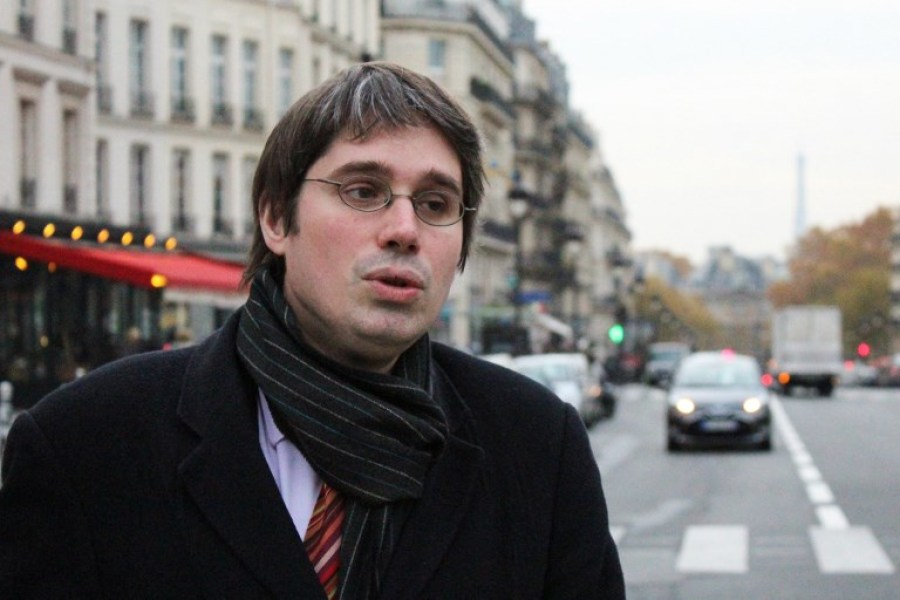 A picture taken on November 16, 2017 shows senior French civil servant Benoit Quennedey posing in Paris.